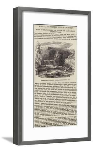 Remains of Dilston Hall, Northumberland--Framed Art Print