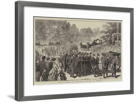 The Funeral of Marshal Concha at Madrid--Framed Art Print