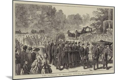 The Funeral of Marshal Concha at Madrid--Mounted Giclee Print