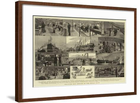 Training for Service in the Royal Navy--Framed Art Print