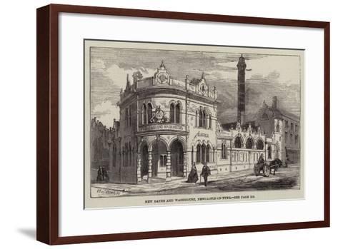 New Baths and Washhouse, Newcastle-On-Tyne--Framed Art Print