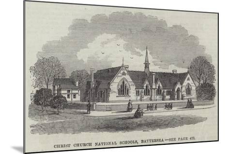 Christ Church National Schools, Battersea--Mounted Giclee Print