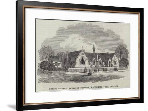 Christ Church National Schools, Battersea--Framed Art Print