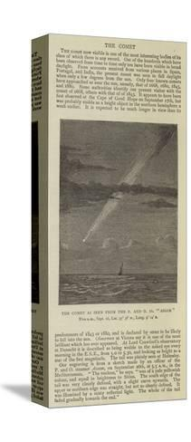 The Comet as Seen from the P and O SS Assam--Stretched Canvas Print