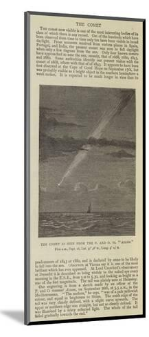 The Comet as Seen from the P and O SS Assam--Mounted Giclee Print