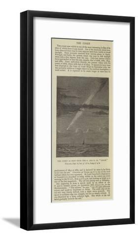The Comet as Seen from the P and O SS Assam--Framed Art Print