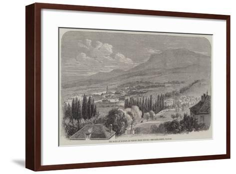 The Town of Monaco as Viewed from the Sea--Framed Art Print