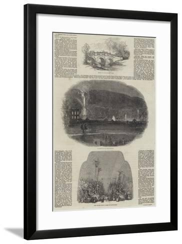 The Queen's Visit to the Midland Counties--Framed Art Print