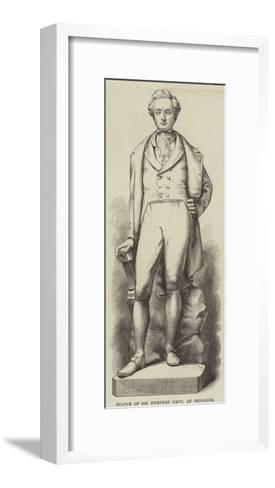 Statue of Sir Humphry Davy, at Penzance--Framed Art Print
