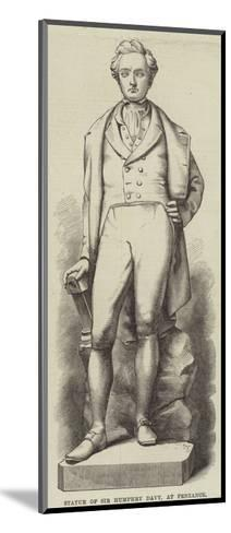 Statue of Sir Humphry Davy, at Penzance--Mounted Giclee Print