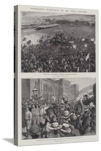 Capetown's Farewell to Mr Cecil Rhodes--Stretched Canvas Print