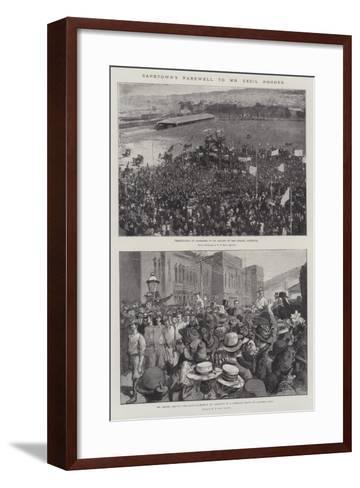Capetown's Farewell to Mr Cecil Rhodes--Framed Art Print