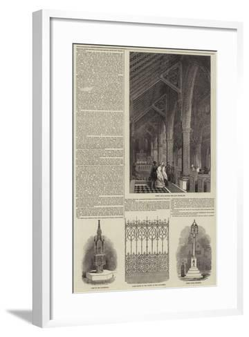 The Earl of Shrewsbury's Church at Cheadle--Framed Art Print