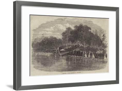 Launch of the Cheltenham Life-Boat--Framed Art Print