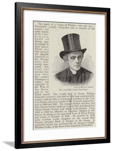 The Late Reverend Canon Courtenay--Framed Art Print