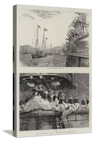 The Jubilee Naval Review at Spithead--Stretched Canvas Print