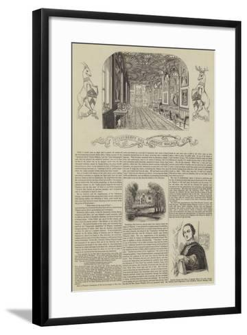 Strawberry Hill and Horace Walpole--Framed Art Print