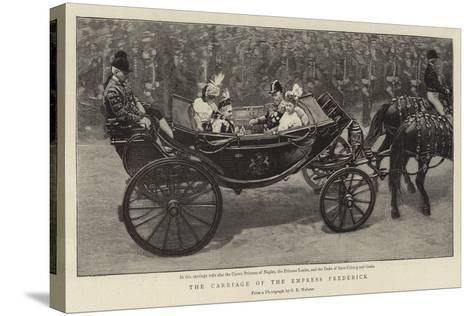 The Carriage of the Empress Frederick--Stretched Canvas Print