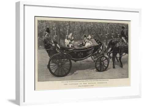 The Carriage of the Empress Frederick--Framed Art Print
