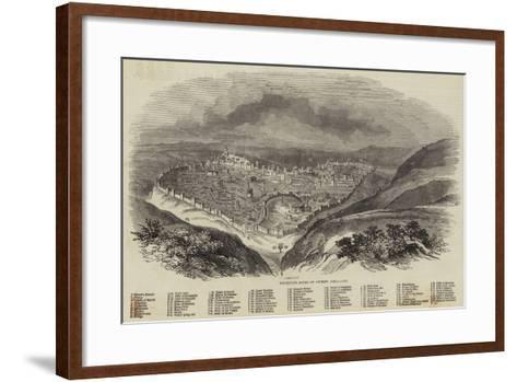 Brunetti's Model of Ancient Jerusalem--Framed Art Print