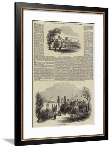 Destruction of Easton Lodge, by Fire--Framed Art Print