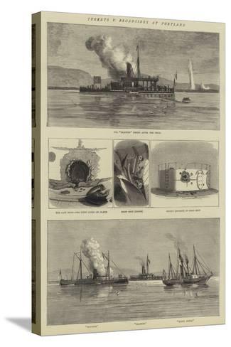 Turrets V Broadsides at Portland--Stretched Canvas Print