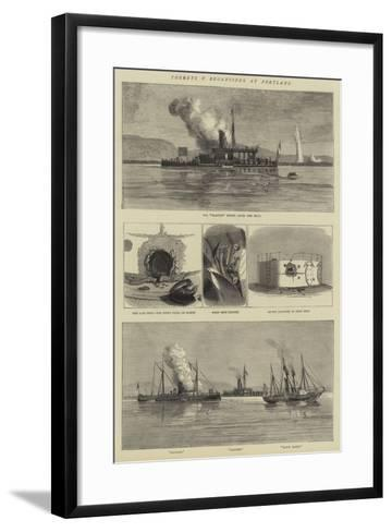 Turrets V Broadsides at Portland--Framed Art Print