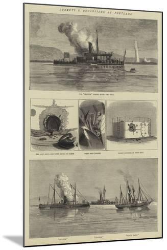 Turrets V Broadsides at Portland--Mounted Giclee Print