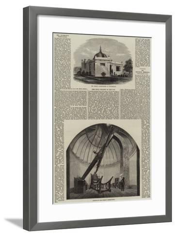 Mr Bishop's Observatory at Twickenham--Framed Art Print