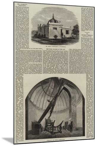 Mr Bishop's Observatory at Twickenham--Mounted Giclee Print