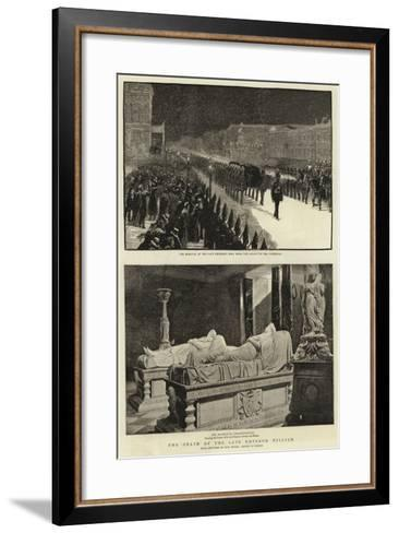 The Death of the Late Emperor William--Framed Art Print
