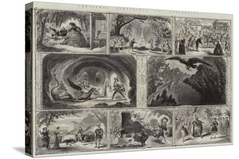 Christmas Pantomimes and Burlesques--Stretched Canvas Print