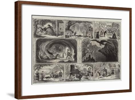 Christmas Pantomimes and Burlesques--Framed Art Print