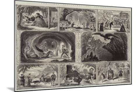 Christmas Pantomimes and Burlesques--Mounted Giclee Print