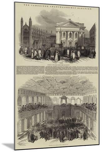 The Cambridge Chancellorship Election--Mounted Giclee Print