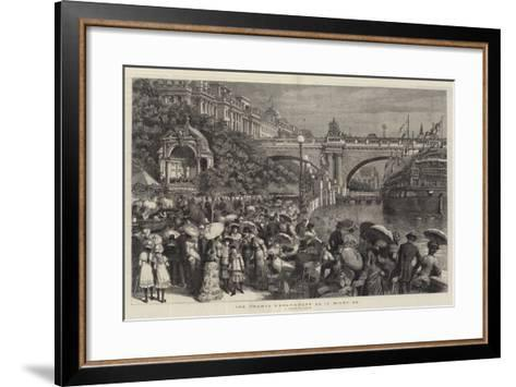 The Thames Embankment as it Might Be--Framed Art Print