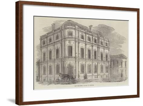 New Free Public Library at Norwich--Framed Art Print