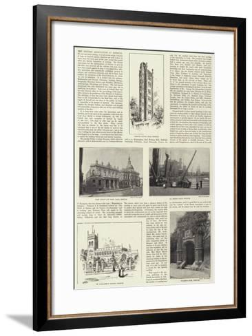 The British Association at Ipswich--Framed Art Print