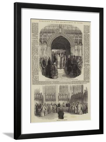 Election of the Archbishop of York--Framed Art Print