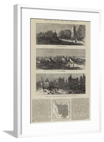 The Fire at St John, New Brunswick--Framed Art Print