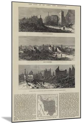 The Fire at St John, New Brunswick--Mounted Giclee Print