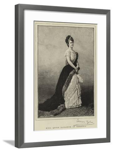 H R H Queen Elizabeth of Roumania--Framed Art Print