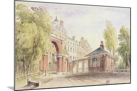 Cumberland Gate, Hyde Park, 1820--Mounted Giclee Print