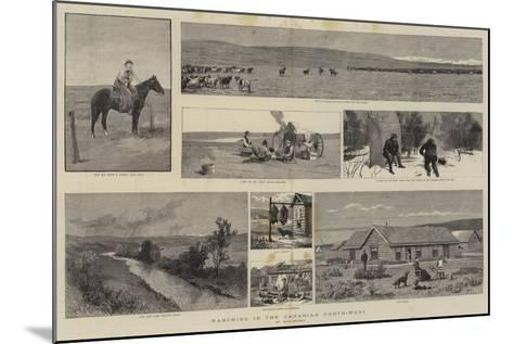 Ranching in the Canadian North-West--Mounted Giclee Print