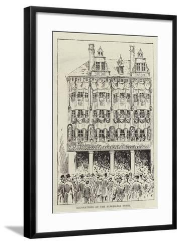 Decorations at the Albemarle Hotel--Framed Art Print