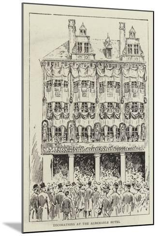 Decorations at the Albemarle Hotel--Mounted Giclee Print
