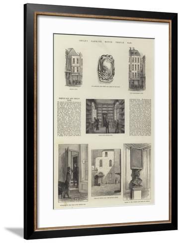 Child's Banking House, Temple Bar--Framed Art Print