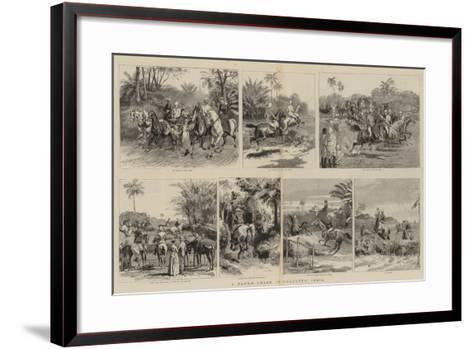 A Paper Chase in Calcutta, India--Framed Art Print