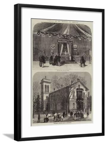 Funeral of Mr Peabody in America--Framed Art Print