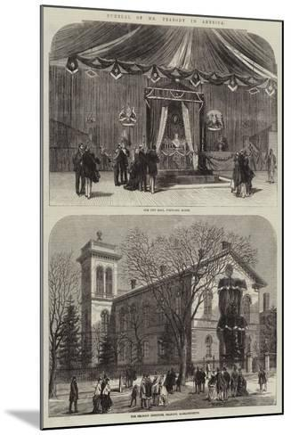 Funeral of Mr Peabody in America--Mounted Giclee Print